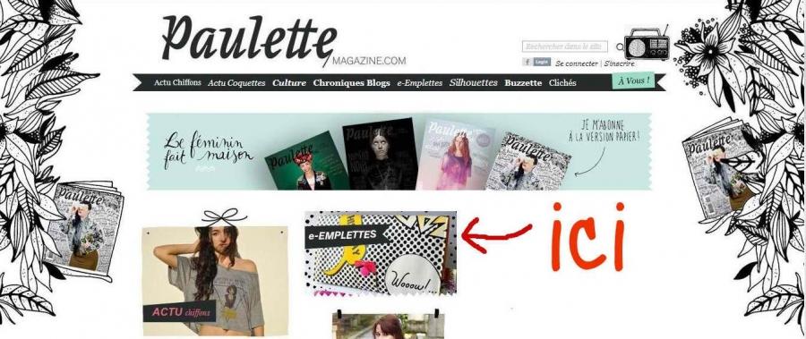 Mamzelle Adèle dans les e-Emplettes de Paulette magazine